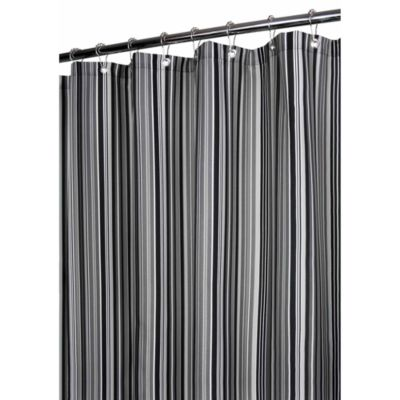 Park B. Smith® Strings Stripe Platinum 72-Inch x 72-Inch Watershed® Shower Curtain