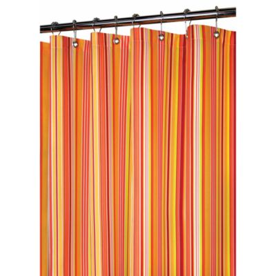 Orange Bath Shower Curtains