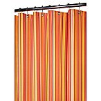 Park B. Smith® Strings Stripe Tangelo 72-Inch x 72-Inch Watershed® Shower Curtain