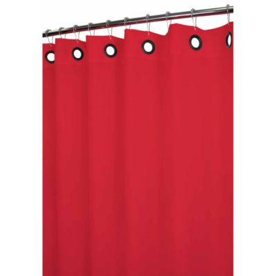 Park B. Smith® Dorset Red Large Grommet 72-Inch x 72-Inch Watershed® Shower Curtain