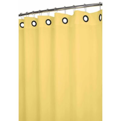 Park B. Smith® Dorset Yellow Large Grommet 72-Inch x 72-Inch Watershed® Shower Curtain