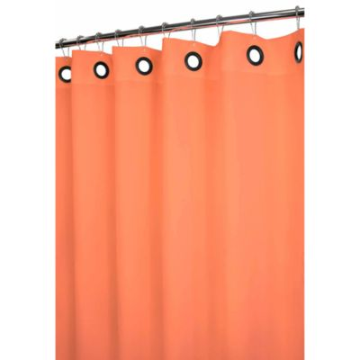 Park B. Smith® Dorset Tangerine Large Grommet 72-Inch x 72-Inch Watershed® Shower Curtain