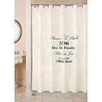 Park B. Smith Brasserie 72-Inch x 72-Inch Shower Curtain