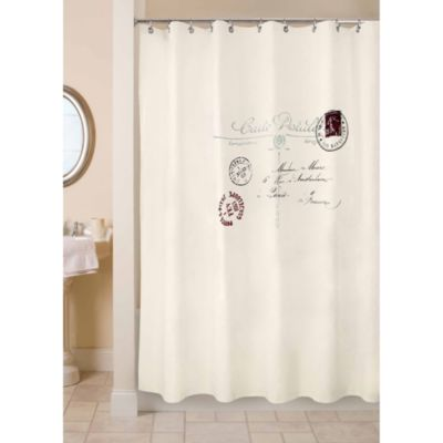 Park B. Smith Postale 72-Inch x 72-Inch Shower Curtain