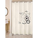 Park B. Smith 72-Inch x 72-Inch World Fabric Shower Curtain