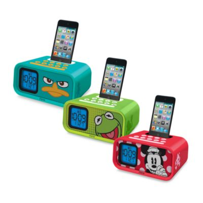 iHome® Disney Loves Dual Alarm Clock Speaker System in Phineas & Ferb
