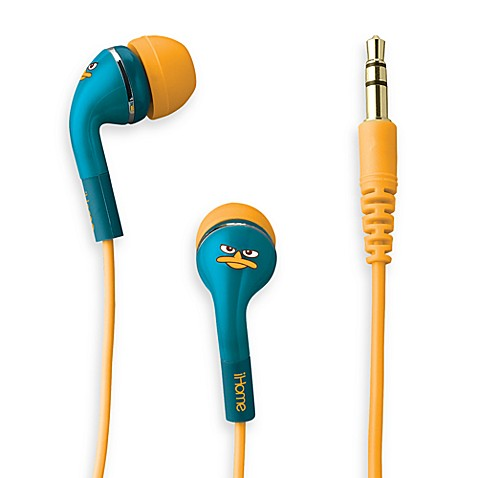 iHome® Disney Loves Noise Isolating Earphones with Pouch in Phineas & Ferb