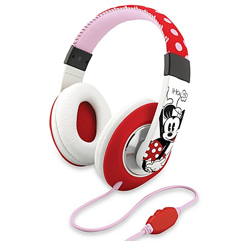 Disney Loves iHome Over-the-Ear Headphones with Volume Control in Minnie Mouse/Red