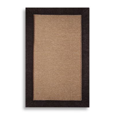 Microdry® Ultimate Luxury Border 20-Inch x 32-Inch Memory Foam Rug in Brown