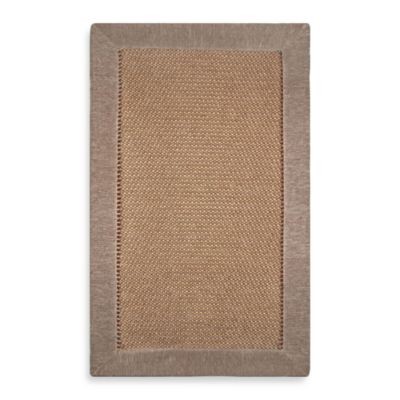 Microdry® Ultimate Luxury Border  28-Inch x 45-Inch Memory Foam Rug in Beige
