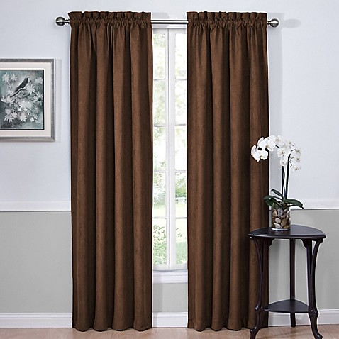 Vivianna Sound Asleep™ 84-Inch Room Darkening Back Tab Window Curtain Panels in Espresso