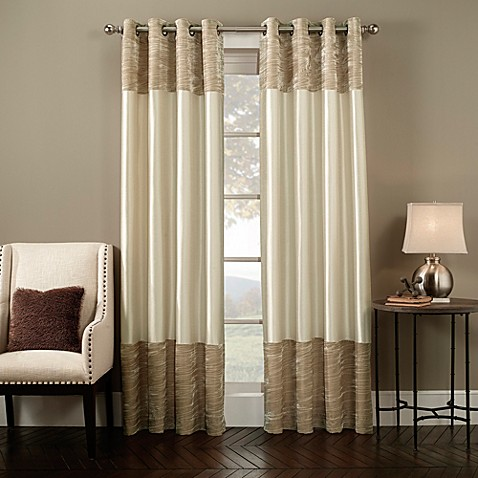Milano grommet window curtain panel bed bath beyond for Bed bath and beyond curtains for living room