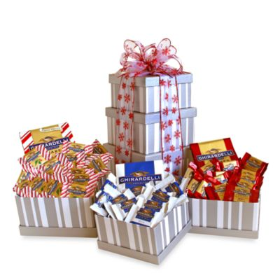 Ghirardelli Silver Sweetness Holiday Gift Tower