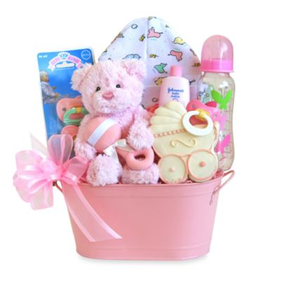 Cuddly Welcome for Baby Girl Gift Basket - SKU: 18935244