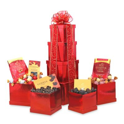 Tower of Godiva Chocolate Gift Tower