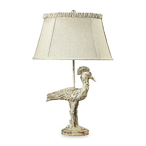 Dimond Lighting Composite Heron Table Lamp With Distressed Avignon Finish and Linen Shade