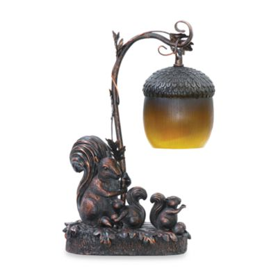 Sterling Squirrels and Acorn Table Lamp