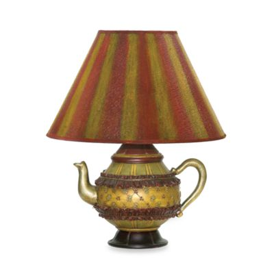 Sterling Curious Accents Collection Tolbert Teapot Table Lamp With Shade