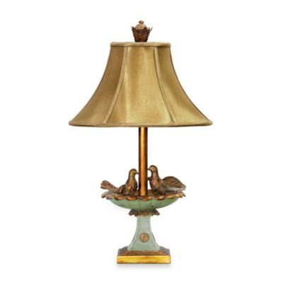 Love Birds in Bath Table Lamp