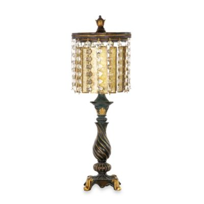 Dimond Lighting Traditional Collection Amber and Crystal Lamp
