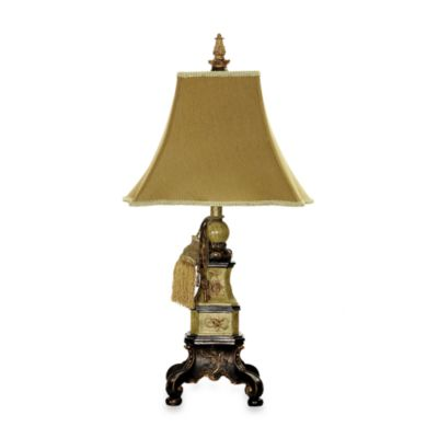 Dimond Lighting Weston Table Lamp with Footed Base Flared Shade and Gold Accents