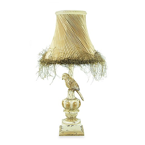 Royal Parakeet Table Lamp With Pleated Shade