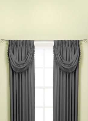 Argentina Crescent Window Valance in Charcoal