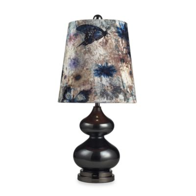Dimond Lighting Casual Contemporary Lamp and Base Set with Velvet Butterfly Shade