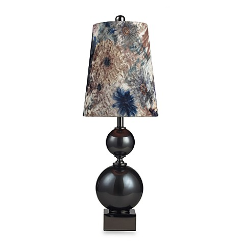 Dimond Lighting Silverdale Table Lamp with Velvet Butterfly-Print Shade