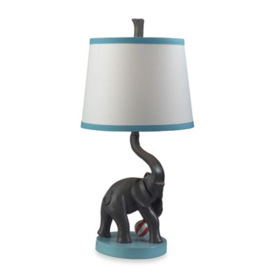 Dimond Lighting Eliza the Elephant Table Lamp With Fabric Shade