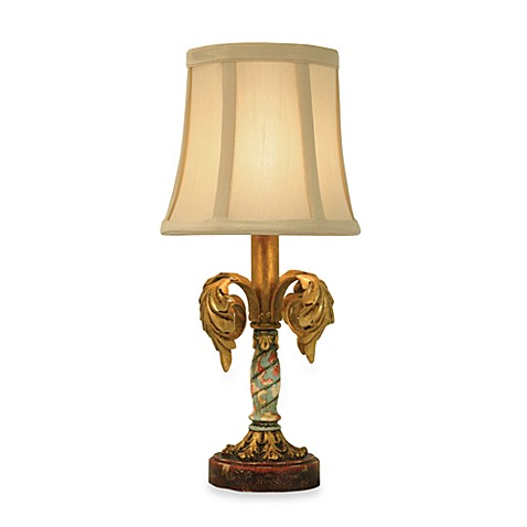 Sterling Maypole Table Lamp with Fabric Shade