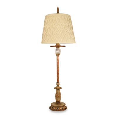 Dimond Lighting Traditional Gold and Red Trellis Table Lamp