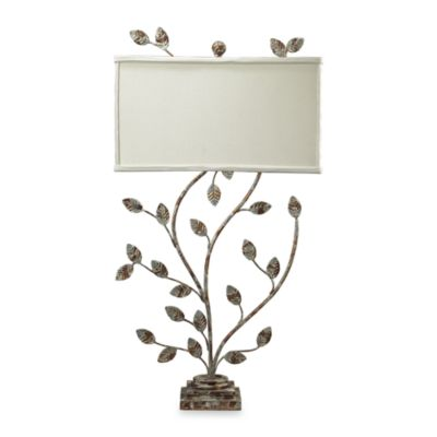 Dimond Lighting Branch Table Lamp With Verononburg Gold Finish and Off-White Linen Shade