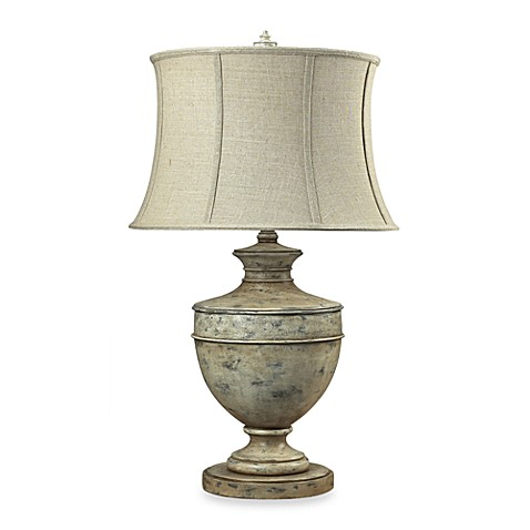 Dimond Lighting Parisian-Inspired Distressed Urn Table Lamp with Linen Shade