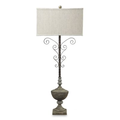 Dimond Lighting Montauk Concrete Accented Parisian Iron Table Lamp