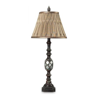 Dimond Lighting Mirrored Table Lamp and Pinch-Pleated Shade