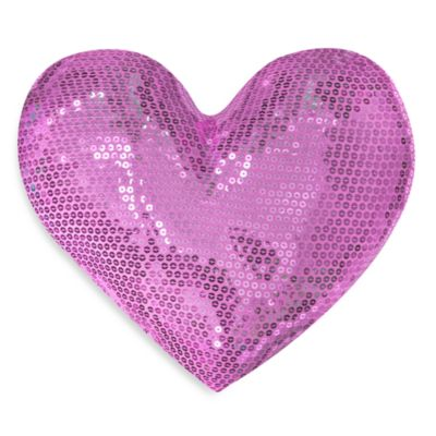 Teen Vogue Sequin Heart Throw Pillow in Pink - Bed Bath & Beyond