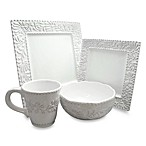 Bianca Leaf 16-Piece Square Dinnerware Set