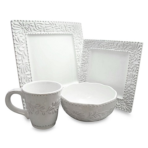 buy square dinnerware sets from bed bath beyond