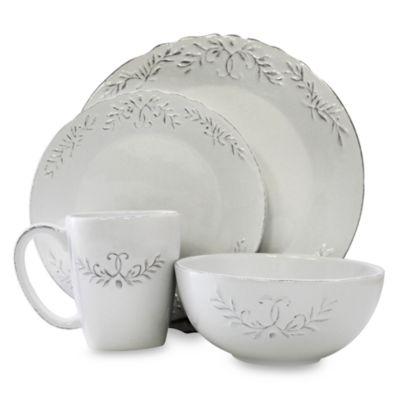 Bianca Laurel 16-Piece Round Dinnerware Set