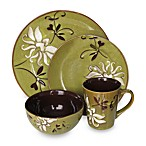 American Atelier 16-Piece Mirabel Dinnerware Set in Green