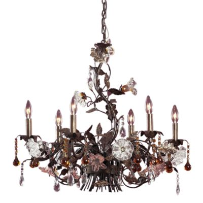 ELK Lighting Cristallo Fiore 6-Light Chandelier