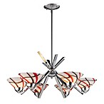 ELK Lighting Refraction 6-Light Chandelier with Creme White Glass