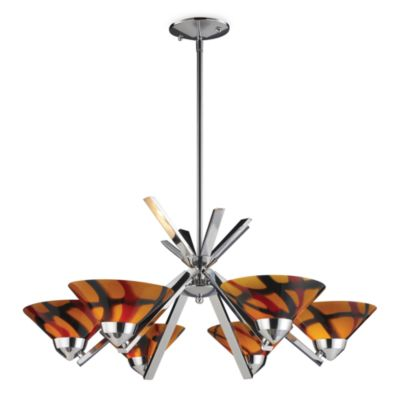 ELK Lighting Refraction 6-Light Chandelier with Jasper Glass