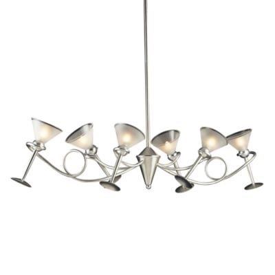 ELK Lighting Martini Glass 6-Light Chandelier