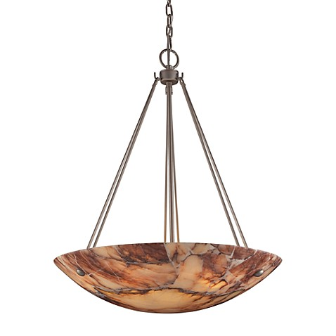 ELK Lighting Marbled Stone 6-Light Pendant