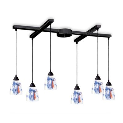ELK Lighting Classico 6-Light Pendant with Mountain Glass