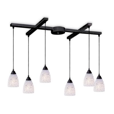 ELK Lighting Classico 6-Light Pendant with Show White Glass
