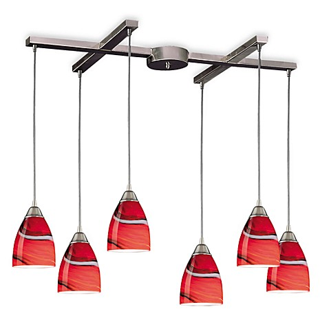 ELK Lighting Pierra 6-Light Pendant with Candy Glass