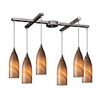 ELK Lighting Cilindro 6-Light Pendant with Coco Glass